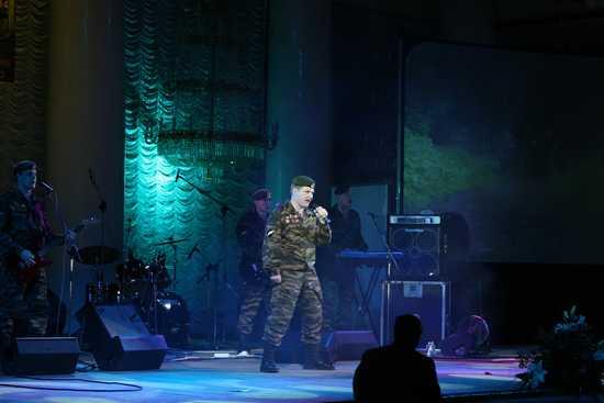Выступление военного ансамбля