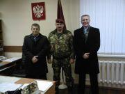 Командир отряда и гости из Калининграда